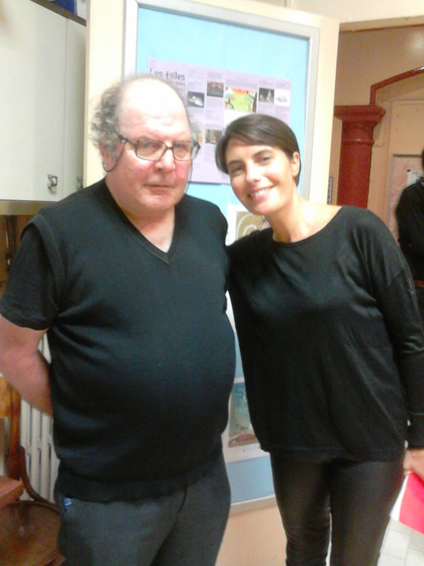Jean Guy Capezzone, directeur du cinéma, avec la présentatrice Alessandra Sublet