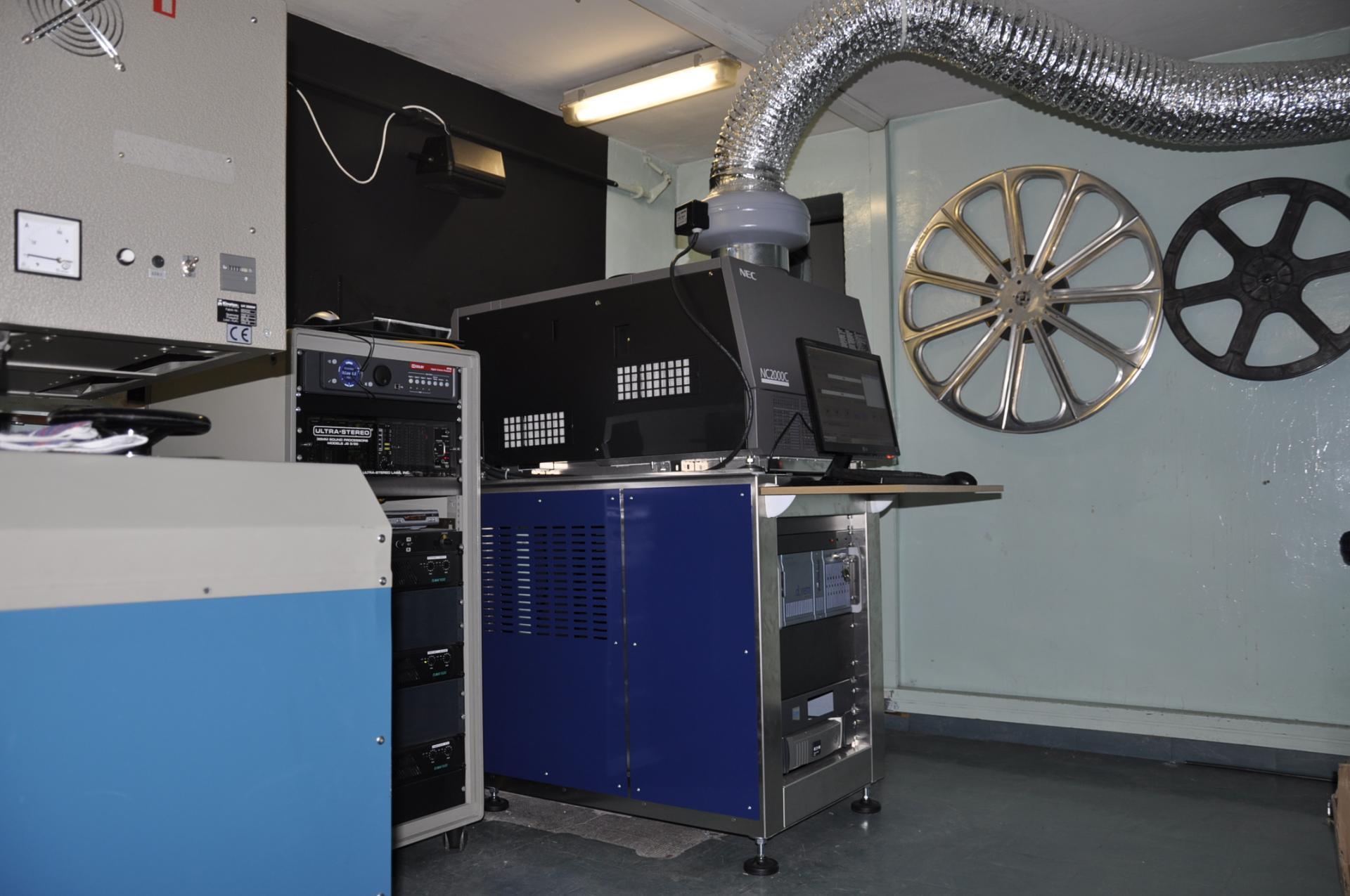 Le projecteur numérique, installé en novembre 2012
